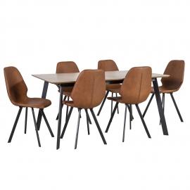 Söögilauakomplekt HELENA 6-tooliga