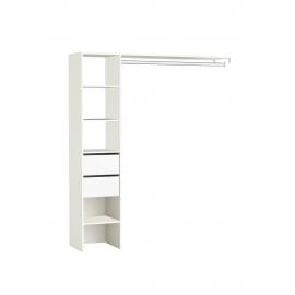 Garderoobisüsteem Duo valge, 160x39,6xH187 cm