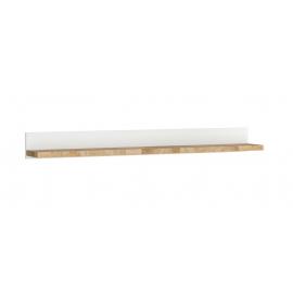 Seinariiul ALAMEDA valge / tamm, 147x20xH15 cm