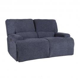 Diivan MARCUS 2-kohaline elektriline recliner 160x99xH96,5cm, hallikas-sinine