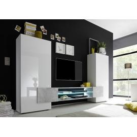 Sektsioon INCASTRO valge / betoon, 258x37xH143 cm, LED