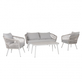 Aiamööblikomplekt ECCO laud, diivan ja 2 tooli