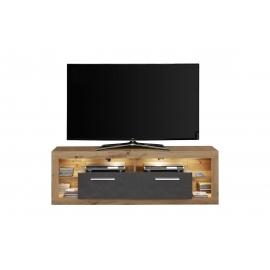 Tv-alus ROCK tumehall / tamm, 150x44xH48 cm