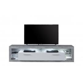 Tv-alus ROCK valge läige / hall, 200x44xH48 cm