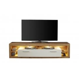 Tv-alus ROCK valge läige / tamm, 200x44xH48 cm