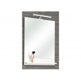 Peegel riiuliga PIOLO valge, 50x10xH70 cm