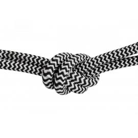 Tekstiilkaabel FABRIC must / valge, D0,6x150 cm