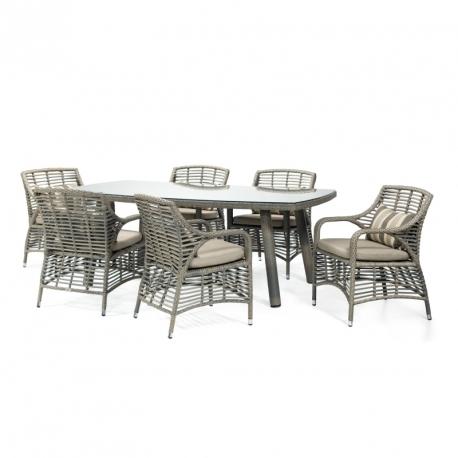Aiamööbli komplekt WHITAKER laud ja 6 tooli