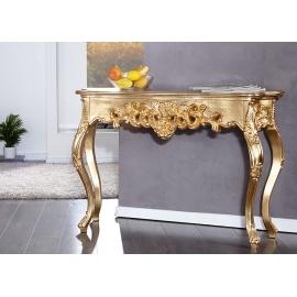 Konsoollaud VENICE kuldne, 110x35xH75 cm