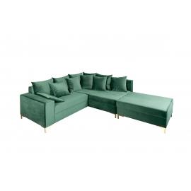 Nurgadiivan LOFT smaragdroheline, 220x183xH85 cm