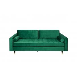 Diivan VELVET smaragdroheline, 225x95xH90 cm