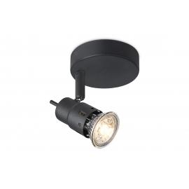 Kohtvalgusti CILINDRO must, D14xH9,5 cm, LED
