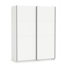 Riidekapp Fast 2 valge, 153,6x64,7xH203 cm