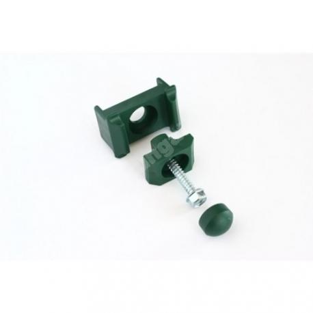 3-osaline plastist kergpaneeli kinnitusklamber 40x60-postile (roheline)