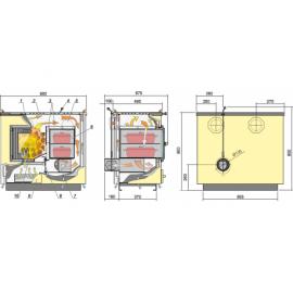 Õhkkütte-pliit Kalvis KO2A-1N