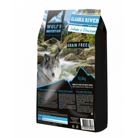Wolf's Mountain koeratoit ALASKA RIVER teraviljavaba - lõhe & kanalihaga 12,5 kg