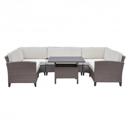 Komplekt CREDA laud ja nurgadiivan