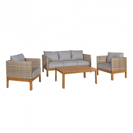 Komplekt CAPTAIN laud, diivan ja 2 tooli