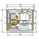 Keskkütte katel-pliit Kalvis K-4ASB-1 klaasuksega