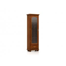 Vitriinkapp Bawaria, 1 uks ja sahtel, kastan / pähkel