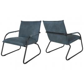Lounge tool Lucan sinine, 70x74xH84 cm