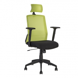Töötool BRAVO 62x53xH107-114,5cm, must-roheline