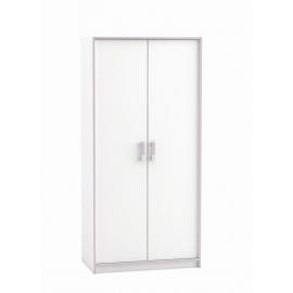 Riidekapp SWITCH valge, 88x50xH185,5 cm