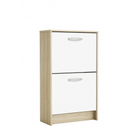Jalatsikapp NANO hele tamm / valge, 54x24,4xH90,6 cm