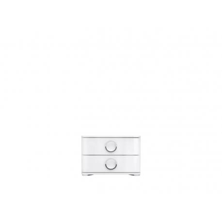 Öökapp Roksana II, 2 sahtlit, valge
