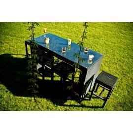 Aiamööbli komplekt Bello Giardino GENIALE tumepruun, 6 tooli + laud
