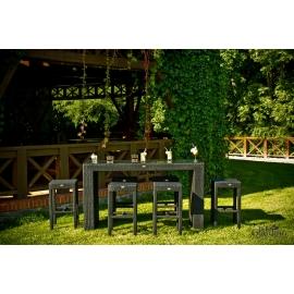 Aiamööbli komplekt Bello Giardino GENIALE must, 6 tooli + laud