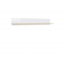 Riiul tamm / valge, 18,5x135xH20 cm