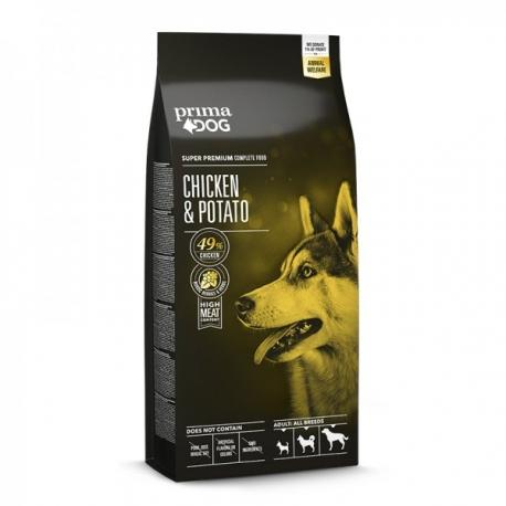 Prima Dog täistoit kana-kartuli kõikidele täiskasvanud koertele 12 kg