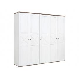 Riidekapp valge / tamm, 243x59xH226 cm