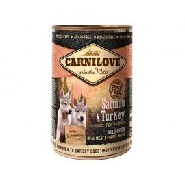 Carnilove koeratoit Wild Meat Salmon & Turkey for Puppies 6x400g
