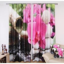 3D kardinate komplekt Orhidee , 160x250 cm