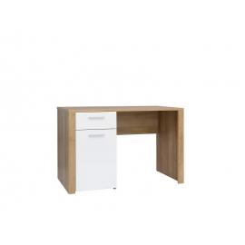 Kirjutuslaud BALDER tamm / valge, 120x56xH77 cm