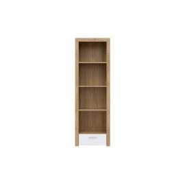Raamaturiiul tamm / valge, 62x39xH192 cm