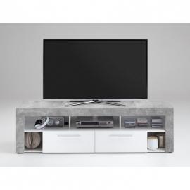TV-alus Vibio 2, 180x41,5xH53 cm, betoon/valge
