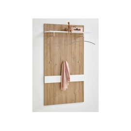 Seinanagi Bristol 200, 80x27xH144,5 cm, tammeplank/valge