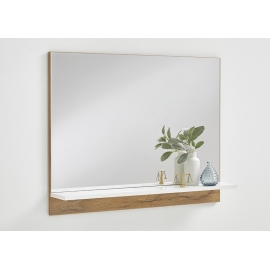 Peegel Bristol 400, 80x14xH62,5 cm, tammeplank/valge