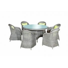 Aiamööbli komplekt Bello Giardino FORTE hall, 6 tooli + laud