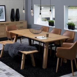 Söögilauakomplekt STOCKHOLM 5-tooli ja pingiga