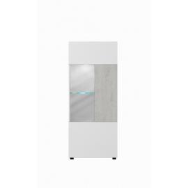 Vitriinkapp MARIO valge / hall, 52x34xH127 cm LED