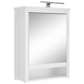 Peegelkapp OLE valge, 62x25xH80 cm, LED
