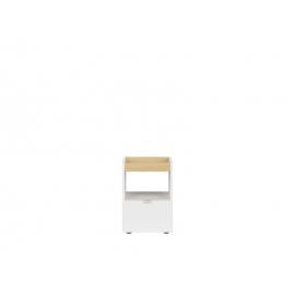 Öökapp PRINCETON valge läige / tamm, 40x35xH47,5 cm