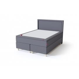 Sleepwell BLACK CONTINENTAL kontinentaalvoodi 160x200x54 cm, tumehall