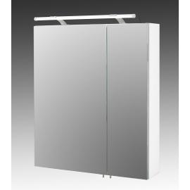 Peegelkapp DORINA valge läige, 60x15,8xH71 cm, LED