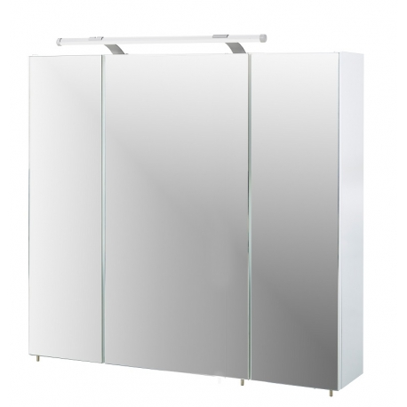 Peegelkapp DORINA valge läige, 80x15,8xH75 cm, LED