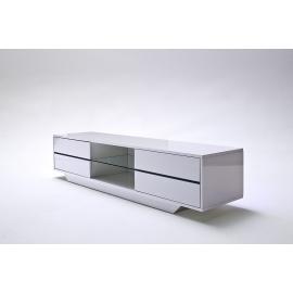 Tv-alus BLUES valge läige, 160x40xH36 cm, LED